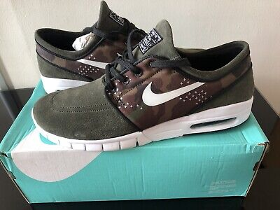 Nike Air Max L Stefan Janoski - Camo Green - New Boxed No Lid - U.K. 9
