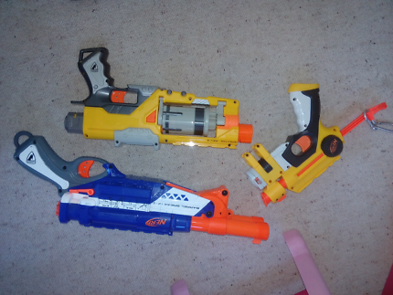 Nerf guns with bullets