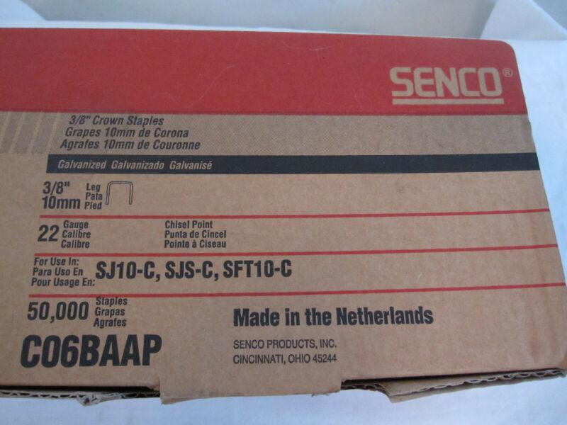 """Senco C06BAAP 3/8"""" Crown 3/8"""" Leg 22 Ga Fine Wire Staples Partial Box"""