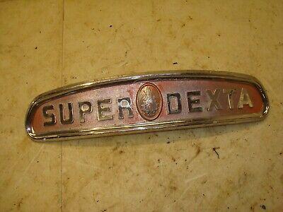 1962 Fordson Super Dexta 2000 Diesel Tractor Front Hood Emblem