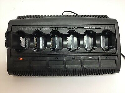 Motorola Impres Wpln4121br 6 Bank Battery Charger Xts5000 Xts3000 Mts2000 Ht1000