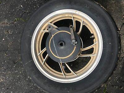 - 1980 Yamaha XJ650 Maxim Motorcycle Midnight Nebular Gold Rear Wheel Rim Drive