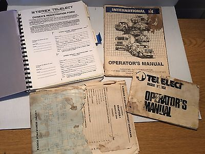 Terex Telelect And International S Series Cab Truck Manuals
