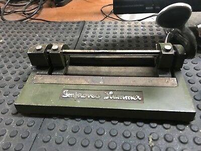Vintage Wilson Jones Co Improved Hummer 3 Hole Punch Adjustable
