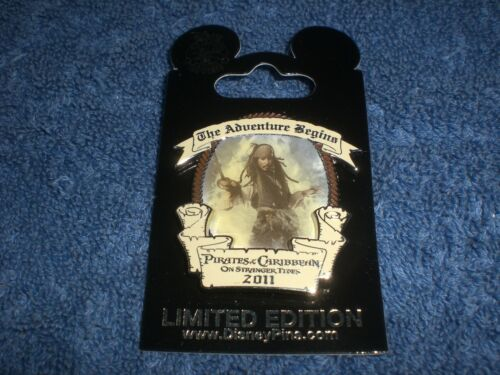 Disney 2011 PIRATES ON STRANGER TIDES CAPTAIN JACK SPARROW Opening Day LE Pin