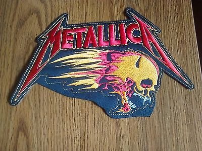 METALLICA # 2,SEW ON EMBROIDERED LARGE BACK PATCH
