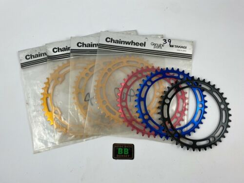TAKAGI NOS Chainring Red Gold Blue 39 40 41 42 43 44 45 Old School BMX 130BCD