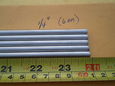 2 Pcs. Stainless Steel Round Rod 302 14 .250 6.33mm. X 24 Long