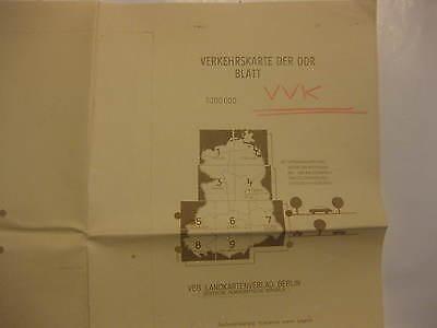 Volkspolizei Verkehrskarte Blatt 2 Stralsund 132/71 Korrekturvorlage Registratu