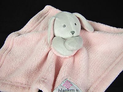 Blankets And Beyond Puppy Dog Blue Security White Plush Baby Lovey Nunu Boy Toy