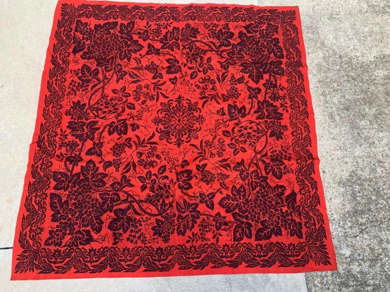 Antique Wool Felt Table Covering Textile