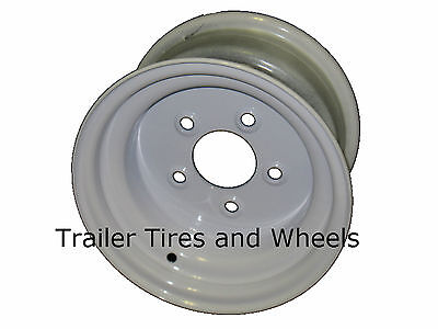 "10"" Tracker Pontoon Boat Trailer Wheel White odd 5 on 5.5"" for 20.5x8.0-10 tire"