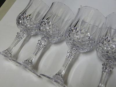 4 Set Vintage Crystal Wine Glasses Plastic Picnic Marine Acrylic Garden goblet