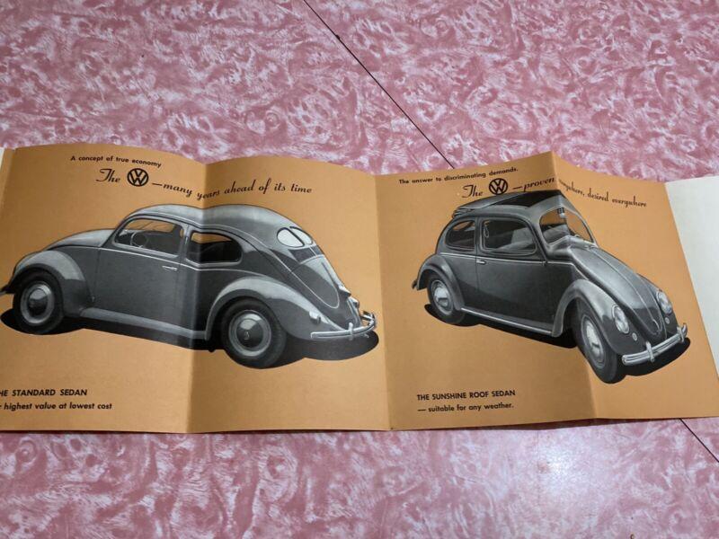 (B) 1950's Vtg Split Window Volkswagen Beetle Brochure Vw Bug Hoffman Motor Car