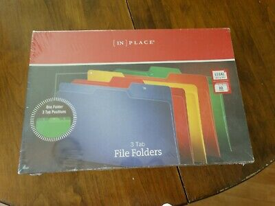 Nib In Place 3 Tab File Folders Legal Size 80pack Assorted Colors