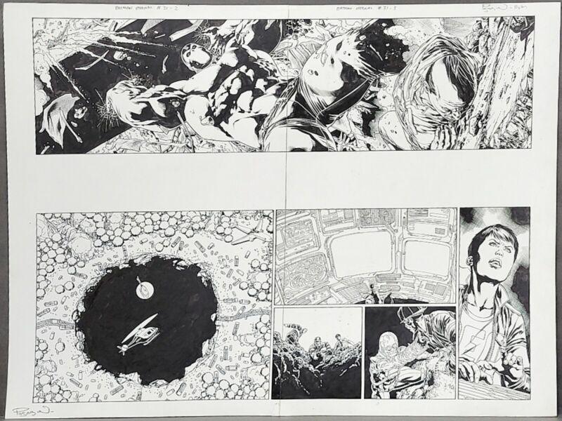 DC : Batman Eternal #31 Pages 2 & 3 : 2 PAGES ! Fernando Pasarin / Matt Ryan