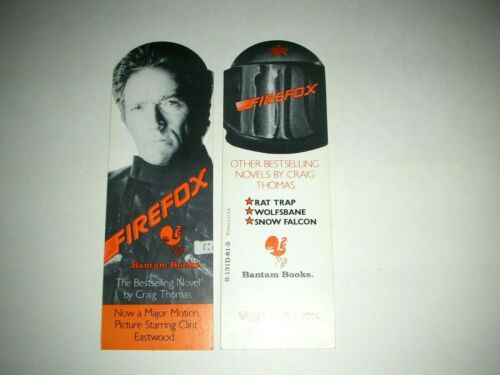 FIREFOX Movie Clint Eastwood Craig Thomas Vintage Original Bookmark 1982 Mint-