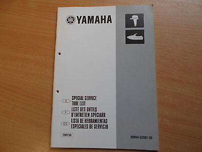 Spezial Werkzeug Liste Tool list Lista de herramientas Außenborder Yamaha