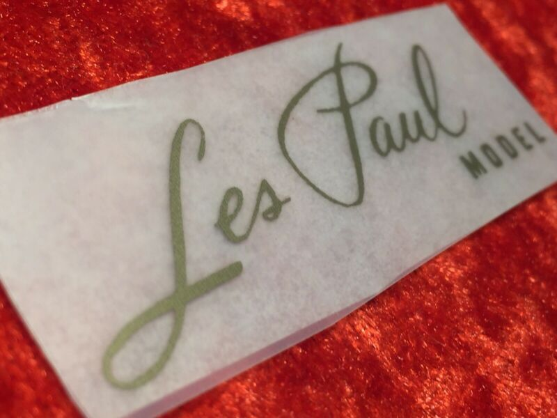 Gibson Les Paul Gold Rub On Headstock Decal
