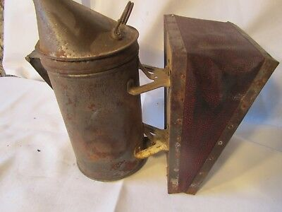 Antique Honey Bee Hive Smoker Vintage Primitive Beekeeping Tool.