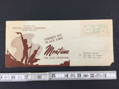 Vintage 1954 Montana Highway Commission Advertising Fold-out Mailing Flyer Ad