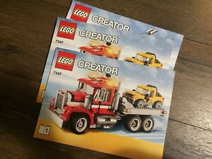 Lego creator 7347 tow truck 2/1 , both build options included
