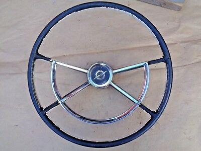 1961 1966 Ford Truck Deluxe STEERING WHEEL w/ HORN RING Original Accessory