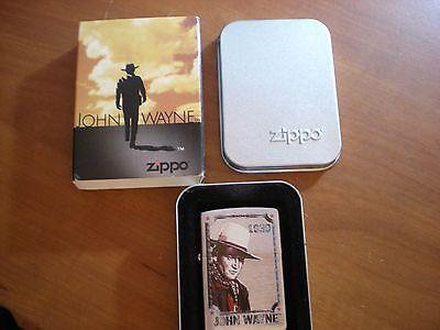 ZIPPO Lighter, 24073 John Wayne 1939, Brushed Chrome, 2007, Sealed