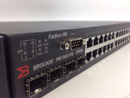 Brocade Fastiron Fws6487g-poe 48-port Managed Gigabit Ethernet Switch