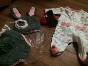 Newborn shoes and outfit