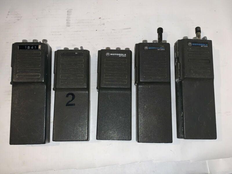 Lot of 5 Motorola MT500 For Parts o