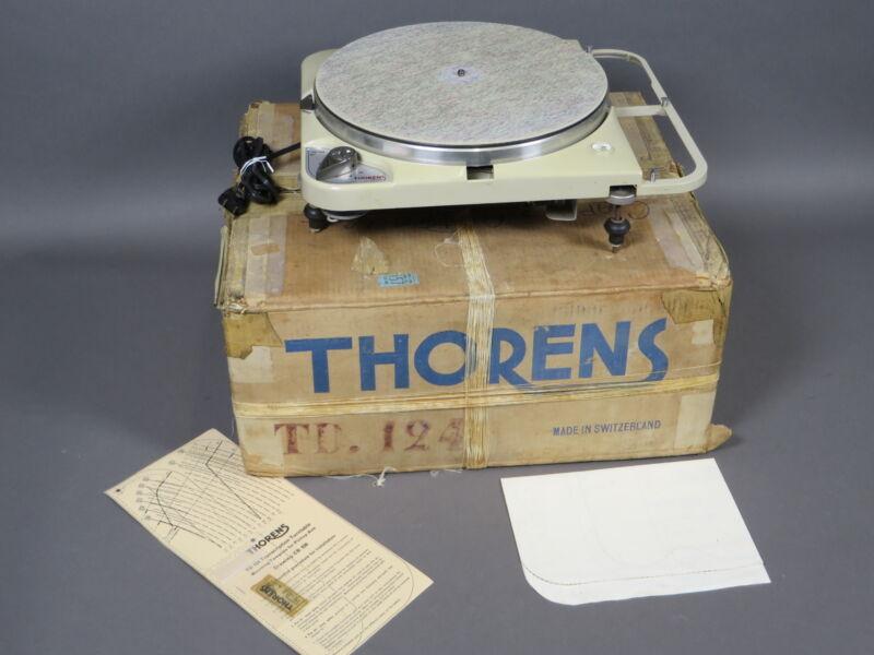 Vintage Thorens TD-124 MK1 Turntable Record Player Switzerland Serial #2083