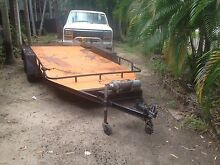 CAR TRAILER with a eletric winch and slide in ramps Farrar Palmerston Area Preview