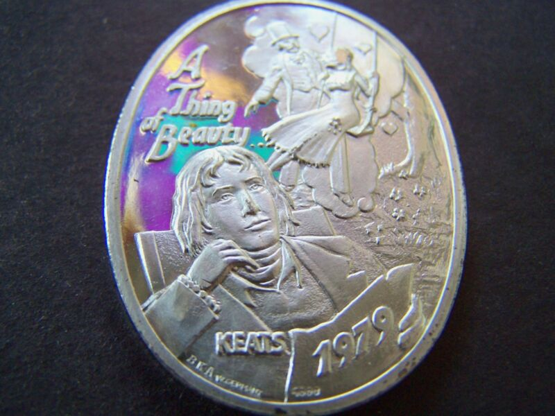 1979 Endymion KEATS--A THING OF BEAUTY Fine Silver Mardi Gras Doubloon