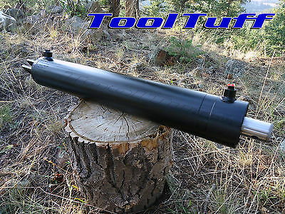 "22 25 Ton OEM Hydraulic Log Splitter Cylinder Double Acting  4 Bore x 24"" Stroke"