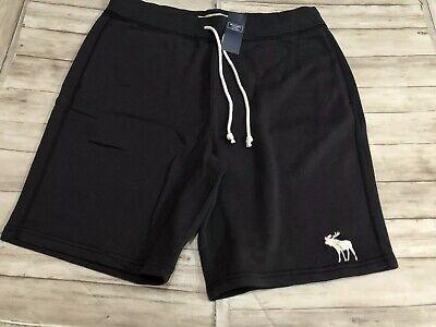 NWT Abercrombie & Fitch Fleece Icon Logo Shorts Medium New Pockets Gym Sport N23