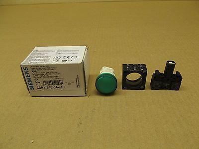 1 NIB SIEMENS 3SB3 248-6AA40 3SB3248-6AA40 GREEN ILLUMINATED INDICATOR LIGHT