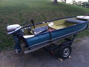 12 ft aluminum boat motor and trailer