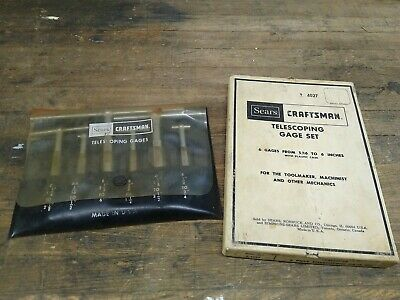Vintage Craftsman 4027 Telescoping Gage Set Toolmaker Machinist Mechanics Usa