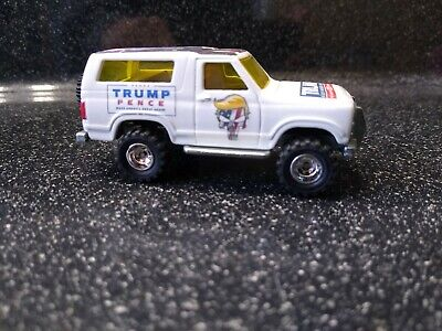 HOT WHEELS CUSTOM DONALD TRUMP 2020 '85 FORD BRONCO REAL RIDERS LIMITED EDITION