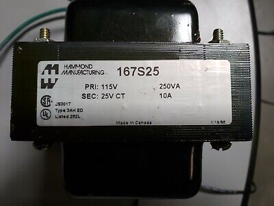 Hammond Manufacturing Low Voltage Transformer 167s25