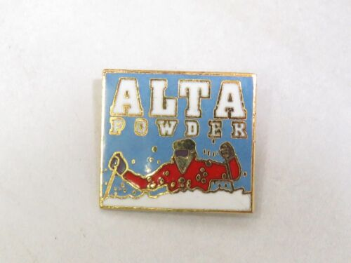 Vintage Ski Pin Alta Powder Skiing Lapel Hat Pin Badge Utah Skier