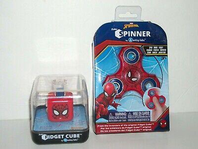 Spiderman Spinner & Fidget Cube 2 Piece Focusing Set Marvel Hero Antsy Labs Zuru