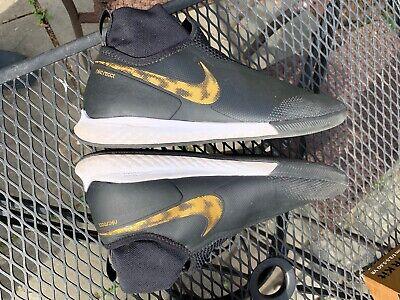 Nike React Phantom VSN Pro DF IC indoor soccer shoes men sz 8 Black