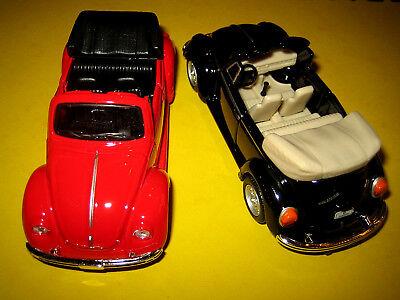 VW Käfer 1:36 Auto Spielzeug Metallauto Cabrio mit Türen zum öffnen ()
