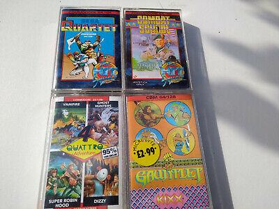 COMMODORE c64 Gauntlet Dizzy combat school quartet robin hunter vintage games x3