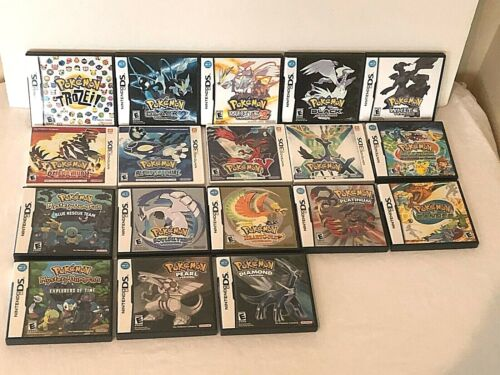 Nintendo DS 3DS Choice Replacement Pokemon Cases Manuals Inserts Only Authentic
