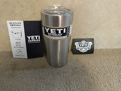 YETI Rambler 20oz Tumbler Cup with Lid Stainless Steel Silver