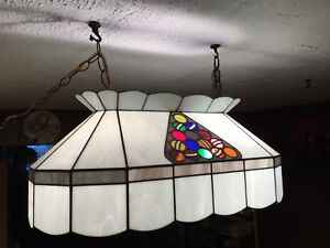 HandMade Stained Glass Pool Table Lamp. Beautiful. $200.00
