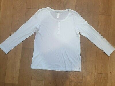 Hanro Of Switzerland White Cotton Relaxed T-shirt Top Size S